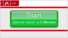 Xcelsius Present's slogan: From Zero to wow in 5 Minutes