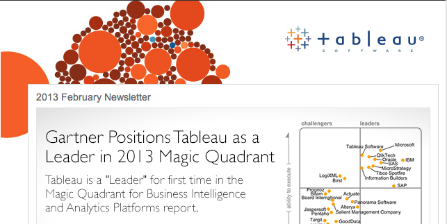 Visual Business Intelligence – Tableau Veers from the Path